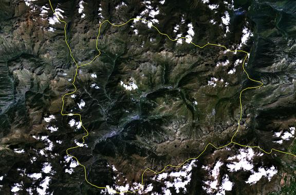 Andorra vía satélite (NASA agosto)