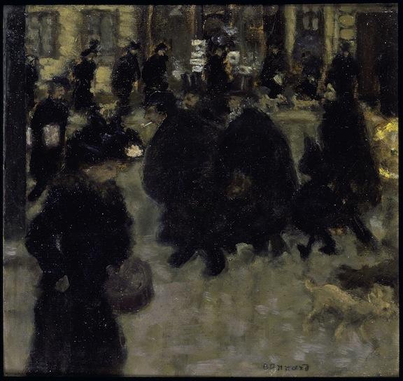 Gente en la calle (Pierre Bonnard 1894)