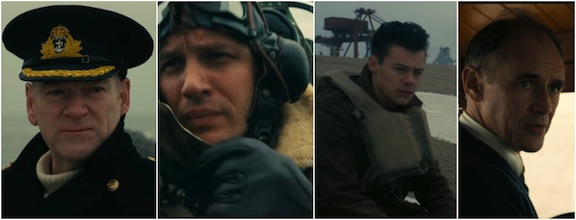 Kenneth Brannagh, Tom Hardy, Harry Styles y Mark Rylance