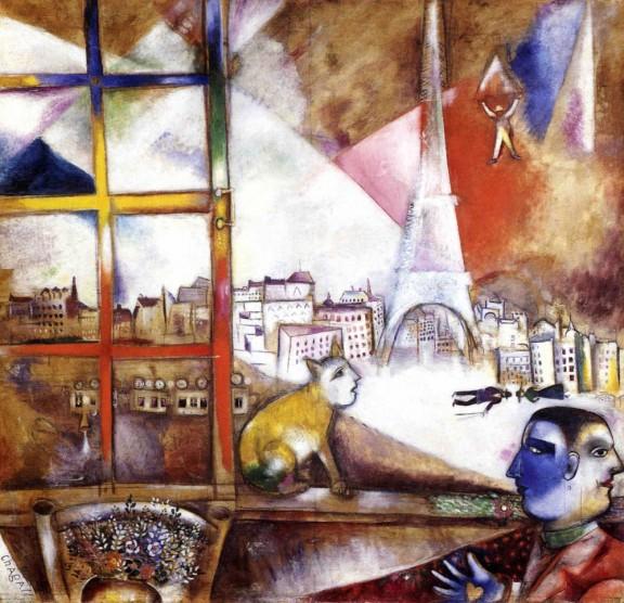 París a través de la ventana - Chagall