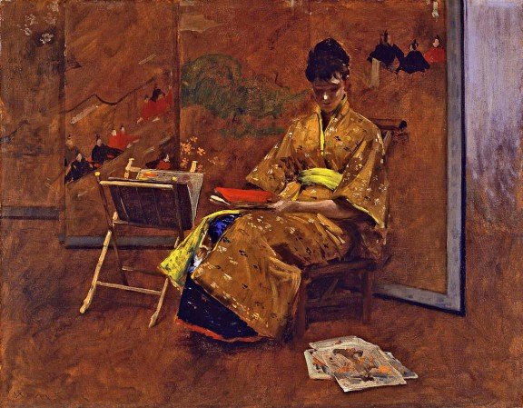 The kimono - William Merritt Chase