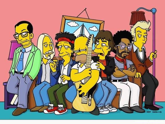 Homer, los Rolling, Kravitz, Costello y más