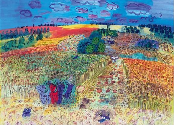 El campo de trigo 1920 - Dufy