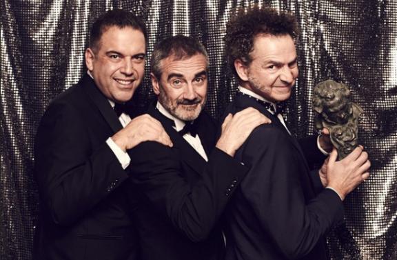Javier Fesser (centro) junto a Francisco Ramos y Luis Manso
