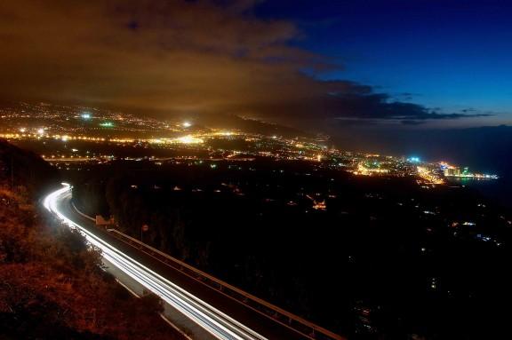 Valle de la Orotava de noche