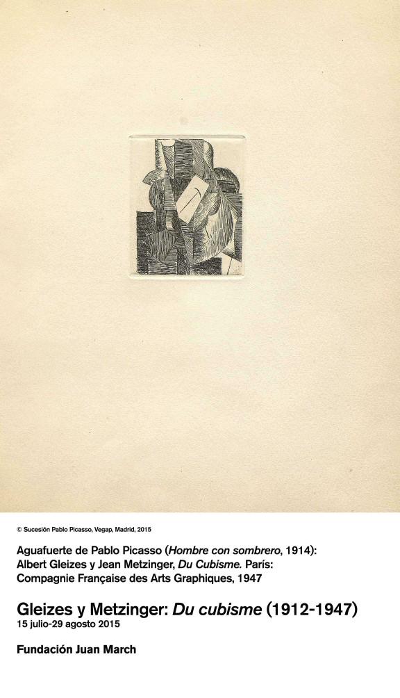 Pablo Picasso. Hombre con sombrero 1914