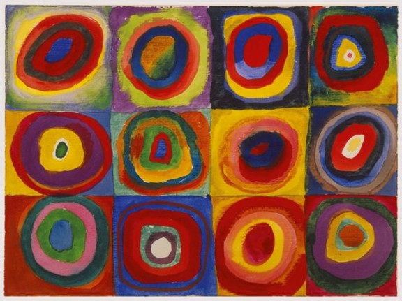 Color study - Squares with concentric circles (1913)