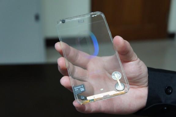 Smartphone transparente de grafeno