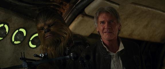 Harrison Ford y Chewbacca