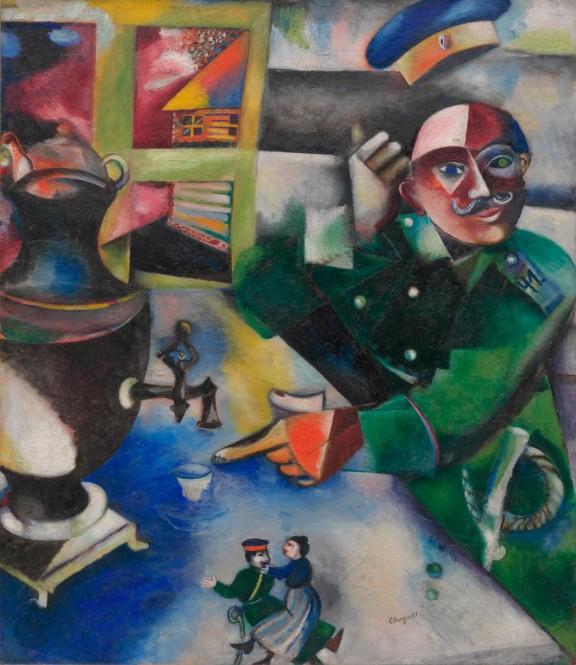 El soldado bebe (Chagall - 1912)