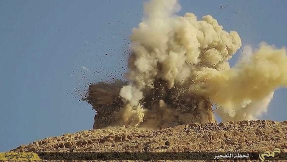 Imagen de la destrucción de un Santuario en Palmira (2016)
