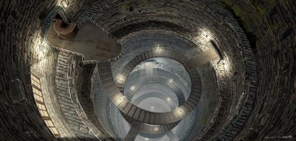 La escalera de espiral del Ministerio