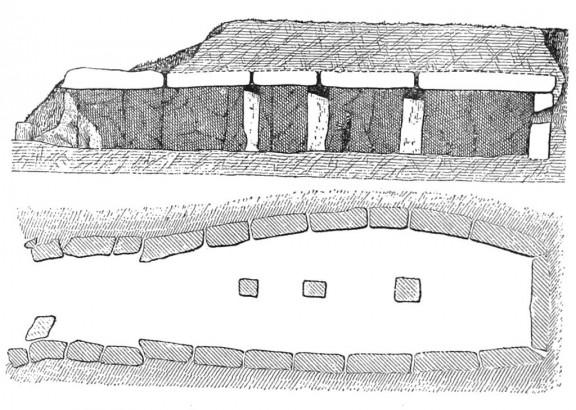 Dolmen de Menga dibujo transversal