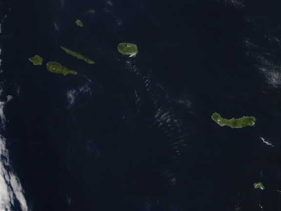Mapa satelital Azores