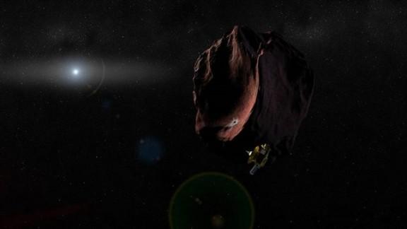 Representación de MU69 junto a New Horizons (NASA- HJUAPL-SWRI)